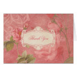 Victorian Rose Thank You Card