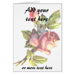 Victorian Rose Transparency Greeting Card