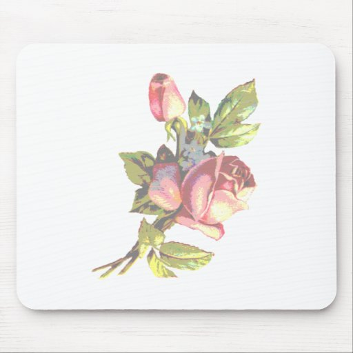 Victorian Rose Transparency Mouse Pad