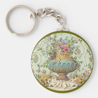 Victorian Rose Vase Keychain