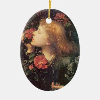Victorian Rose Vintage Oval Ornament