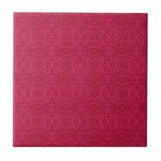 Victorian Rose Wallpaper Design Ceramic Tile