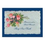 "Victorian Rose Wedding Shower Invitation 4.5"" X 6.25"" Invitation Card"