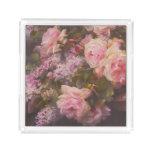 Victorian Roses and Lilacs Acrylic Tray