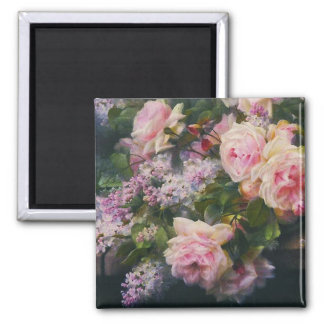 Victorian Roses and Lilacs Magnet