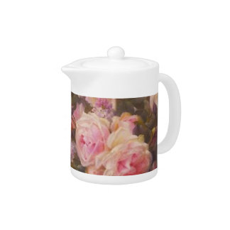 Victorian Roses and Lilacs Teapot