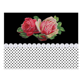 Victorian Roses and Pearls Postcards