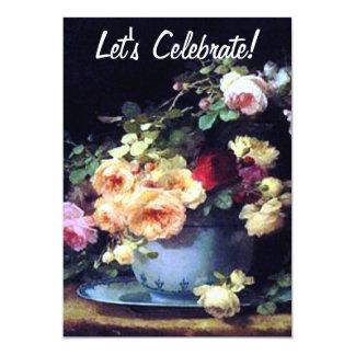 Victorian Roses Birthday Invitation