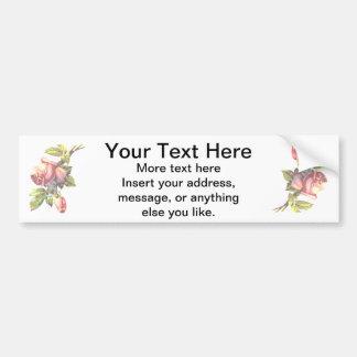 Victorian Roses Bumper Sticker