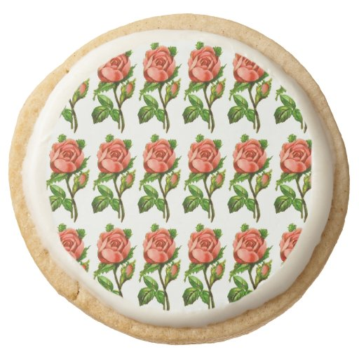 Victorian roses cookies english tea party favors round for Victorian tea party favors