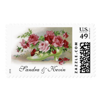 Victorian Roses Custom Wedding Postage