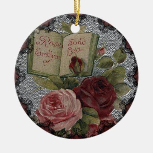 Victorian Roses Emblem of Love Ornament