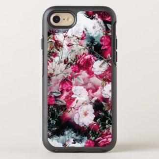 Victorian Roses Floral pink mauve white black OtterBox Symmetry iPhone 7 Case