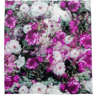 Purple Floral Shower Curtains   Zazzle