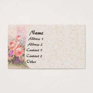 Victorian Roses Garden Flowers Business Card