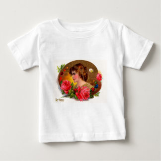 Victorian Roses Painting Board Mother's Day Card Baby T-Shirt