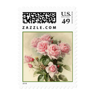 Victorian Roses Postage Stamp
