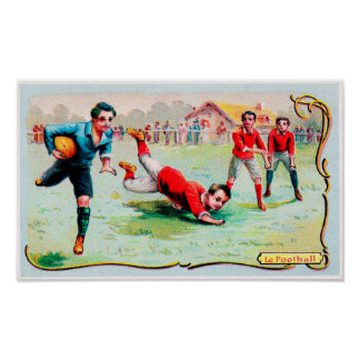 Victorian Rugby Trade Card - Print