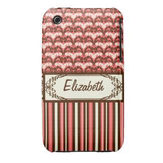 Victorian Saloon Elegant Wild West Cowgirl Damask iPhone 3 Case