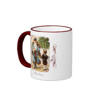 Victorian Santa and Boy Christmas Coffee Mug