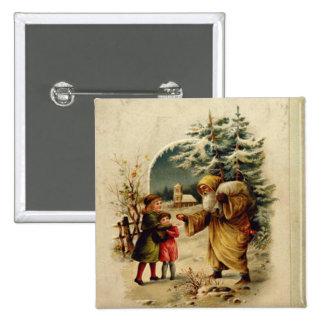 Victorian Santa Button