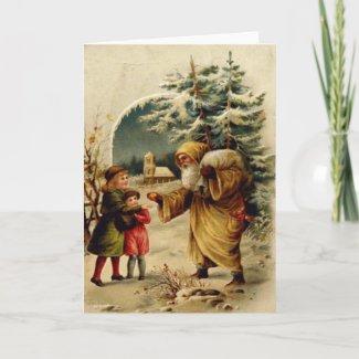 Victorian Santa Card