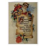 Victorian Santa Christmas Greeting Card