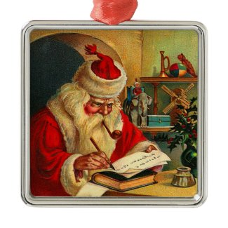 Victorian Santa Christmas Ornament ornament