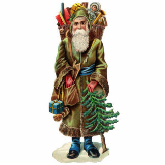 Victorian Santa Christmas Ornament
