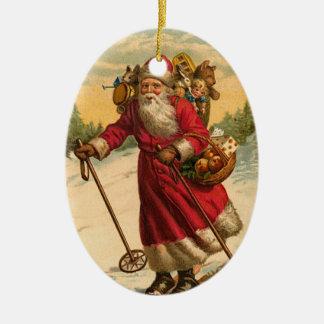 Victorian Santa Christmas Ornament