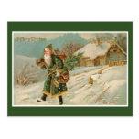 Victorian Santa Christmas Postcards