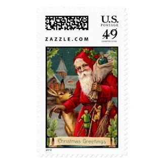 Victorian Santa Christmas Stamp