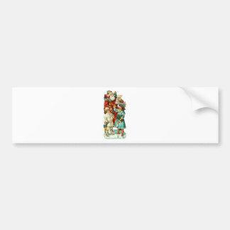 Victorian Santa Claus and Children Bumper Sticker