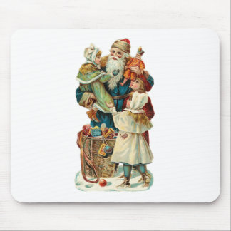 Victorian Santa Claus and Children Mouse Pad