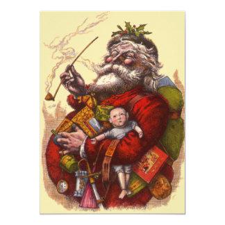 Victorian Santa Claus Christmas Party Invitation