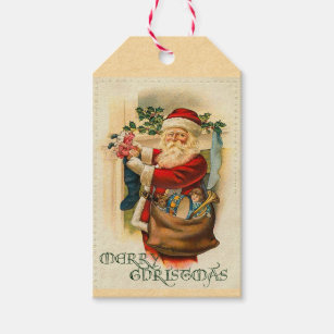old world santa gift tags gift enclosures zazzle