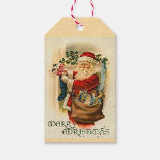 Victorian Santa Claus Holiday Gift Tags
