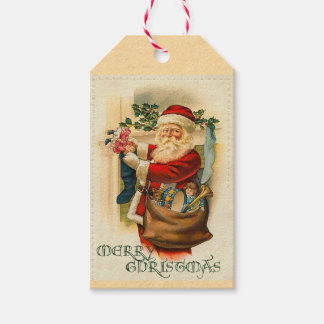 Victorian Santa Claus Holiday Gift Tags Pack Of Gift Tags