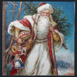 "Victorian Santa Claus in Red Velvet and White Fur Cloth Napkin<br><div class=""desc"">Victorian Santa Claus in Red Velvet and White Fur at Christmas.</div>"