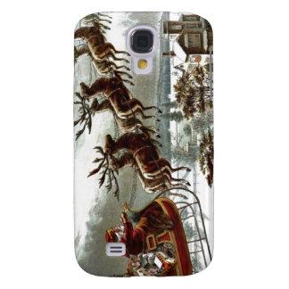 Victorian Santa Claus Reindeer and Sleigh Galaxy S4 Case
