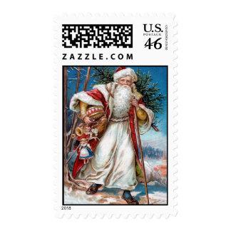 Victorian Santa Claus St Nicholas Postage Stamps