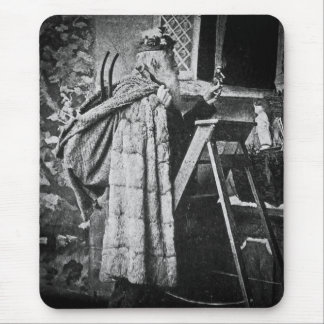 Victorian Santa Claus Vintage Stereoview Mouse Pad