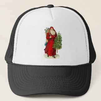 Victorian Santa Claus with a Toy Sack and a Tree Trucker Hat