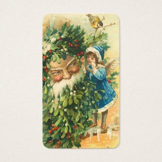 Victorian Santa & Fae Mini Greetings or Gift Tags