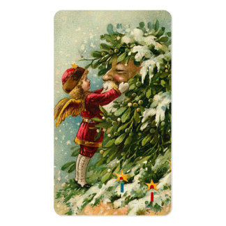 Victorian Santa & Fae Mini Greetings or Gift Tags Business Card