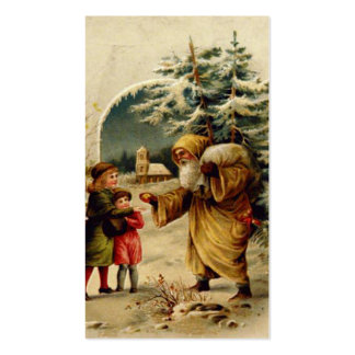 Victorian Santa Gift Card Double-Sided Standard Business Cards (Pack Of 100)