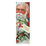 Victorian Santa gift tags Double-Sided Mini Business Cards (Pack Of 20)