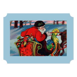 Victorian Santa Invitation