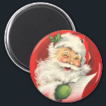 """Victorian Santa Magnet for the Holidays<br><div class=""""desc"""">Great way to spruce up the fridge during the holidays with vintage Christmas magnets! Cute Victorian Santa&#39;s and other holiday scenes!</div>"""