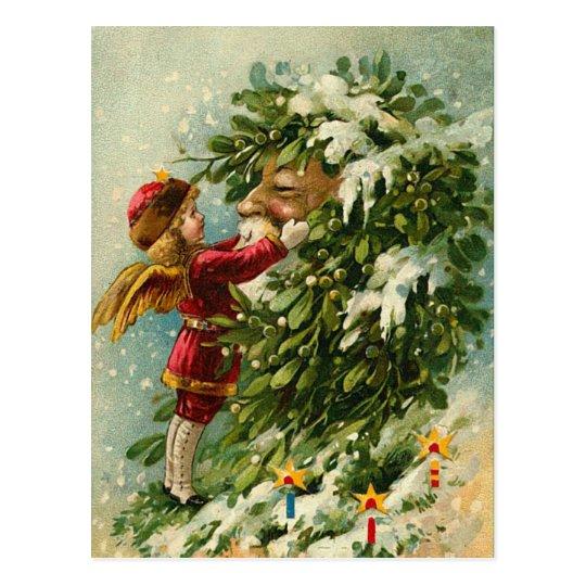Victorian Santa Post Card